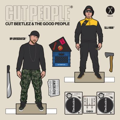 """cover art for the Cut Beetlez and the Good People's 2019 EP """"Cut People"""" released on Fabyl"""