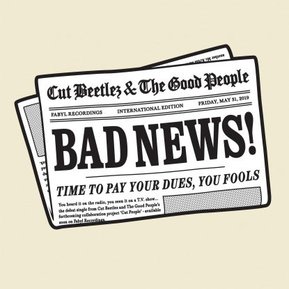 """cover art for Cut People's 2019 single release """"Bad News"""" on fabyl"""