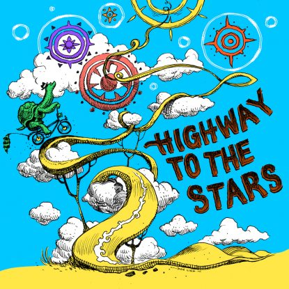 """cover art from the 2020 single release """"Highway To The Stars"""" by The Lost Highway Tapes on Fabyl"""